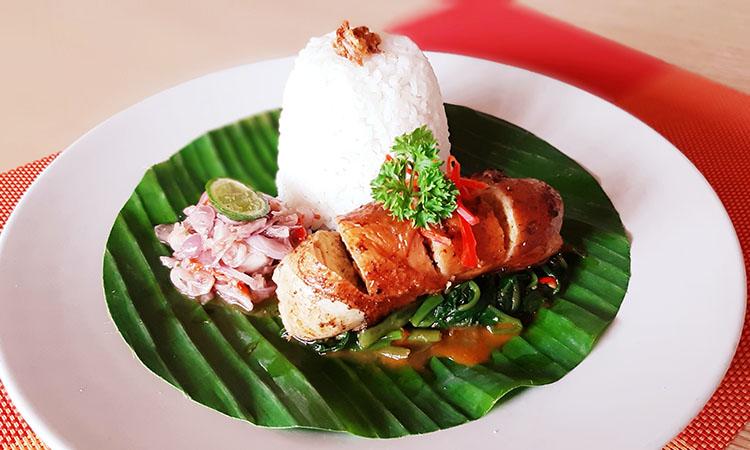 Balinese Chicken Roulade